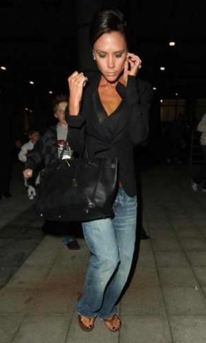 celebrities wearing PRPS barracuda jeans victoria beckham