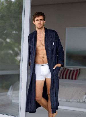 polo white underwear boxer briefs on male model andrew cooper