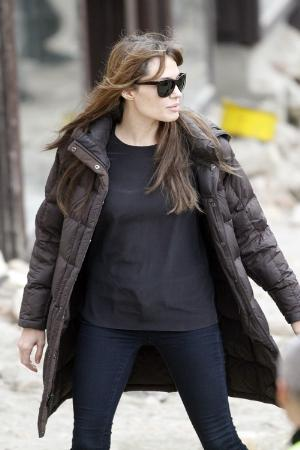 women winter coats. bubble jackets. angelina jolie fashion
