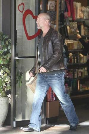 celebrities wearing PRPS barracuda jeans bruce willis
