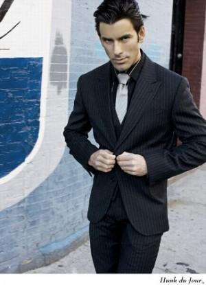 male model wearing suit - latino model daniel villa