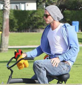 celebrities wearing PRPS barracuda jeans david beckham
