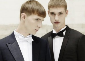tuxedo suit male models by dior homme