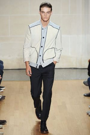 white jacket for men. british designer dunhill
