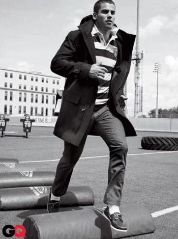 football coat for men by nautica - eric decker