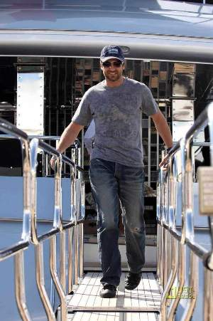 gerard butler celebrities wearing PRPS barracuda jeans