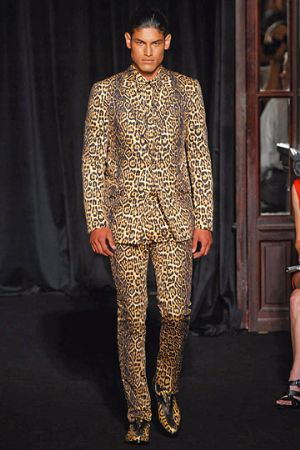 leopard print suit by givenchy