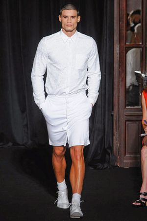 white shirts for men by givenchy - male model wearing givenchy