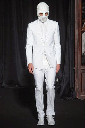 white mens suits by givenchy 2011 spring menswear collection