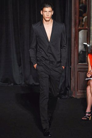 black suits for guys. givenchy menswear spring 2011. givenchy male model wearing suit