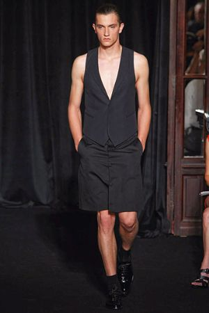 givenchy vest latest menswear collection runway in paris