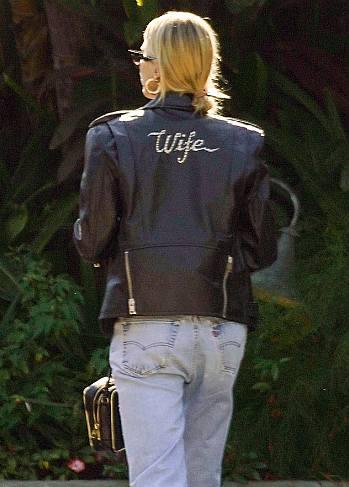justin bieber leather jacket by celine - wife