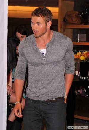 Male Celebrities Wearing Henley Shirts