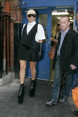 lady gaga shoes black platform
