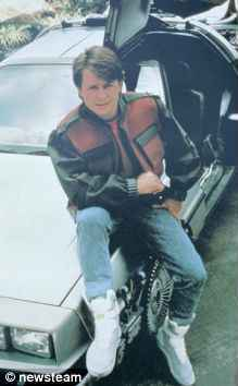 michael j fox back to the future guess jeans
