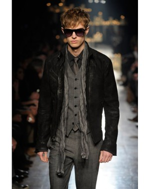 john varvatos menswear vest for 2011 2012