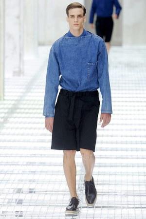 prada denim jacket light blue color