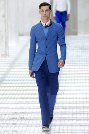 light blue jacket for men by prada - for spring summer 2011