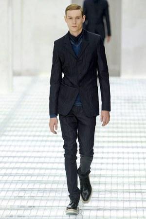prada jacket dark blue