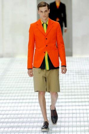 orange mens jackets by prada spring 2011 fashion style