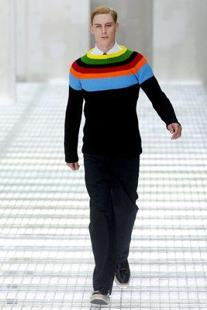 prada mens sweaters black with colors - spring 2011