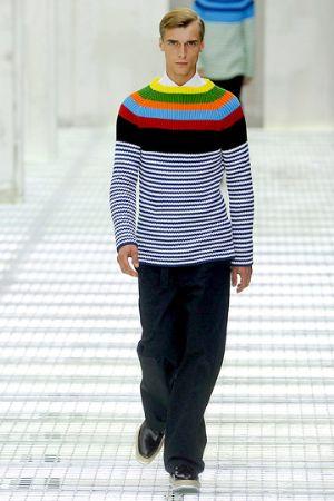prada stripe sweaters paris fashion week