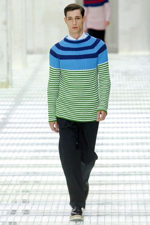 blue green sweaters for men by prada. italian menswear fashion