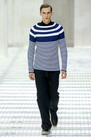 white and blue sweaters for boys by prada