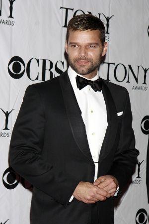 celebrities wearing tuxedo suits ricky martin