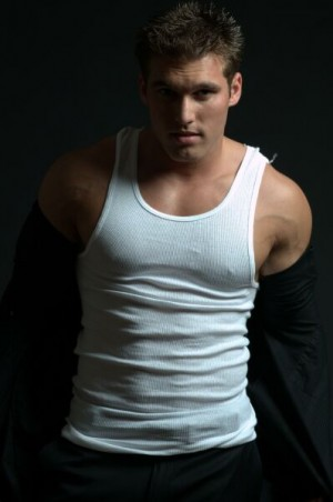 sexy white tank top shirts or singlets for men