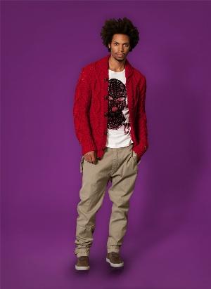 red sweater cardigan for men - diesel menswear fashion
