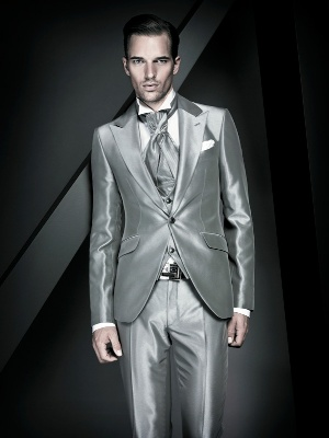 silver suits for men - italian fashion style
