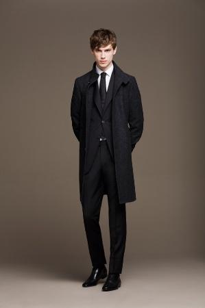 black suit and coat for men by top designer carolina herrera