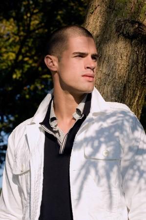 white jacket for men - belgian fashion style