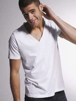 white v-neck shirts for men chad white