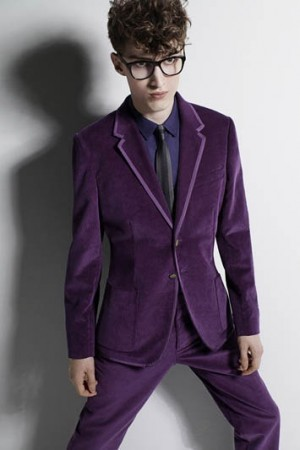 purple suit for men - british style suits