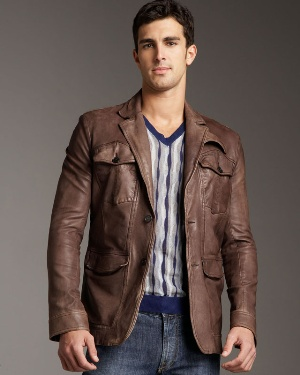brown leather at neiman marcus department store