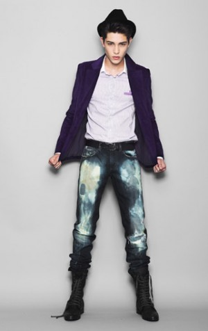 acid washed jeans by moschino - italian fashion label