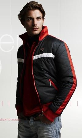 sporty mens jacket - fila sportswear for fall winter