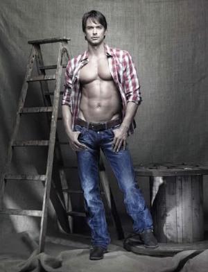 camp david jeans on shirtless swedish male model