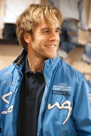 blue camp david mens jackets