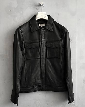 swedish coat for men - ljung leather jacket