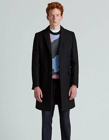 swedish coat for men - zack wool overcoat by ljung