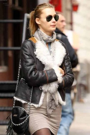 shearling leather jacket for women by philip lim