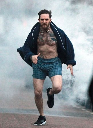 tom hardy underwear - boxer shorts - stand up to cancer campaign