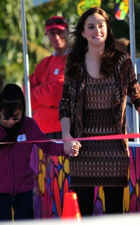 leighton meester fashion style missoni dress