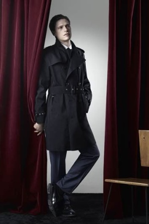 black long winter coat for men