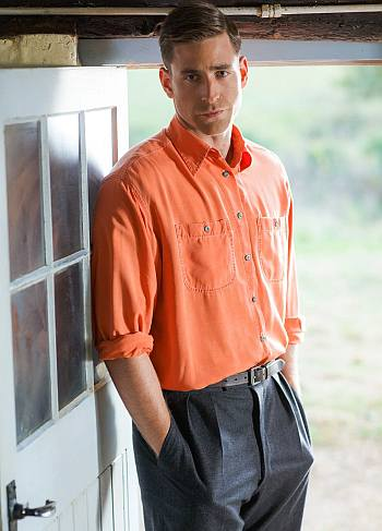 cool orange look - mens shirt - oliver jackson cohen