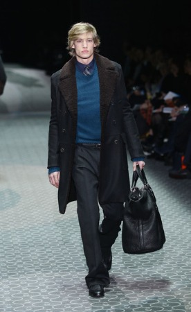 male celebrity winter coats by gucci