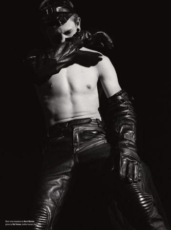 hot men in leather pants - luke worrall